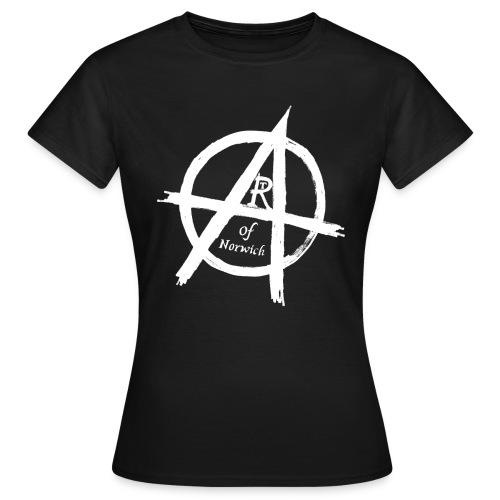 #ANARTISTSUPRISING womens arT-Shirt with white logo - Women's T-Shirt