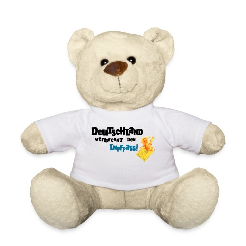 Kuschelbär-weiß / DVDI-Logo - Teddy
