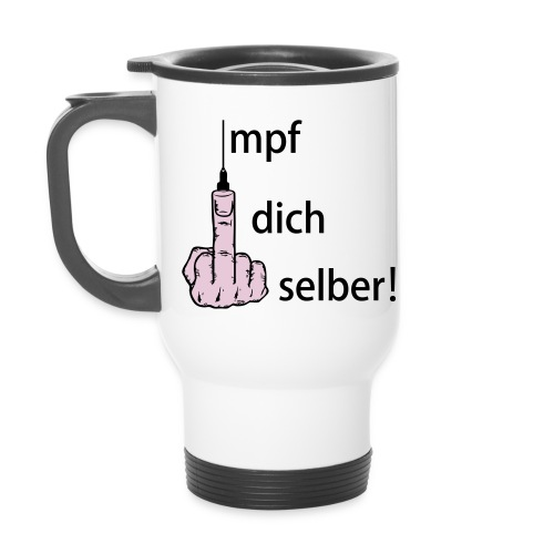Thermobecher / Impf dich selber! - Thermobecher