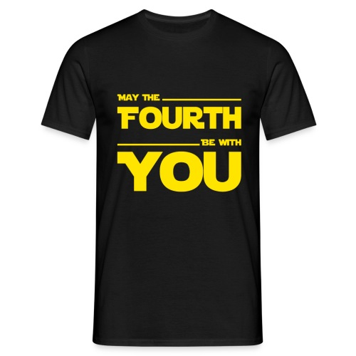 May Fourth Be With You Science Fiction Geek Shirt - Men's T-Shirt