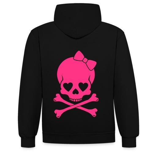 Contrast hoodie voor meisjes, en vrouwen, - Contrast hoodie
