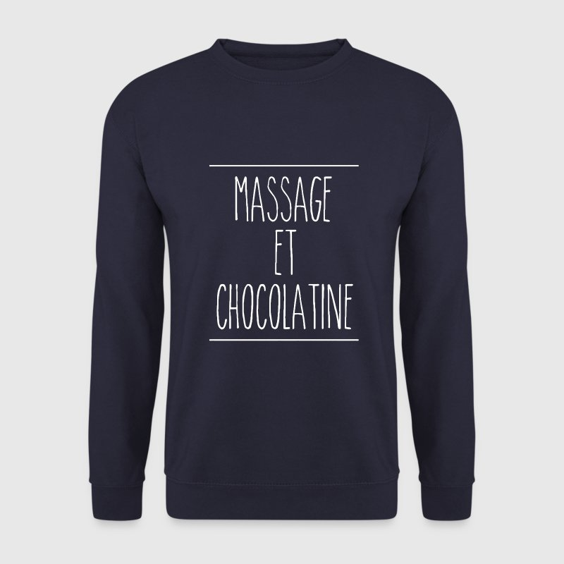 sweat homme massage et chocolatine (logo blanc) - Sweat-shirt Homme