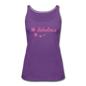 Pink-glitter Fabulous - Women's Premium Tank Top