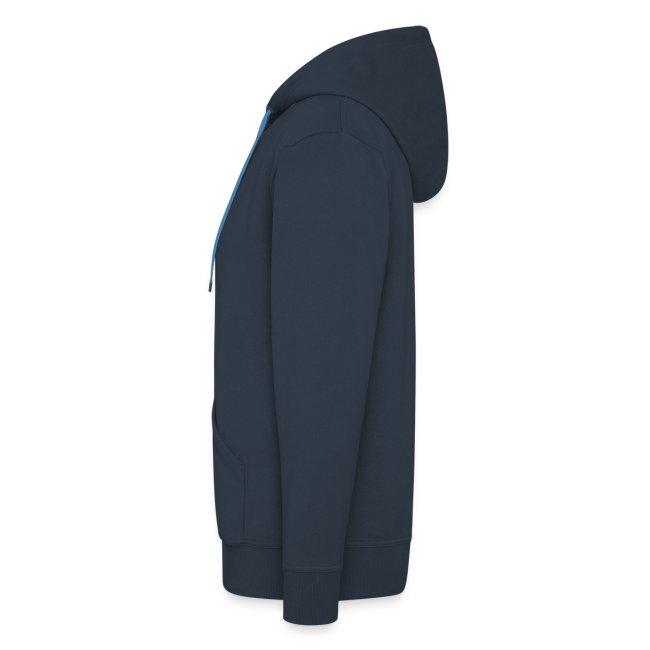 Veste à Capuche American Apparel Bleue Logo Blanc