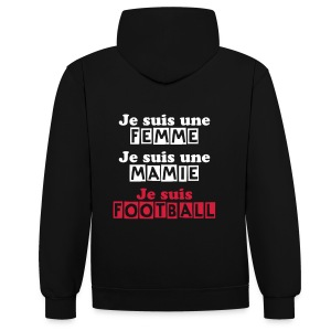 Flocage recto LadyFoot en rouge - Sweat-shirt contraste