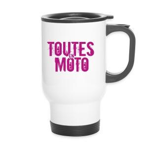 Mug Isotherme Blanche Logo Rose - Mug thermos
