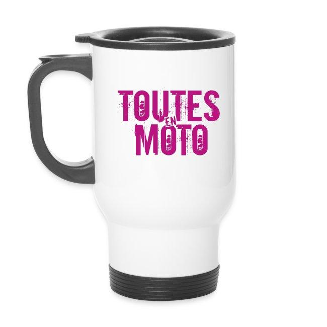 Mug Isotherme Blanche Logo Rose