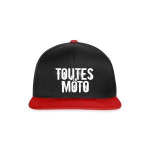 Casquette noire et rouge Logo Blanc (taille réglable) - Casquette snapback