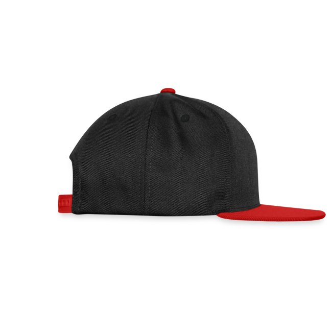 Casquette noire et rouge Logo Blanc (taille réglable)