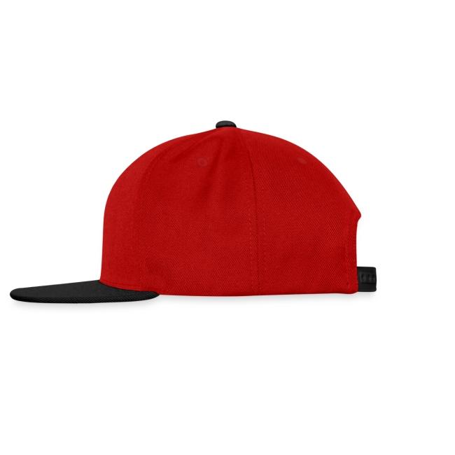 Casquette rouge et noire Logo Noir (taille réglable)