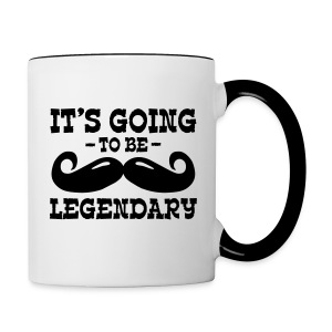 Mug it's going to be legendary moustache - Tasse bicolore