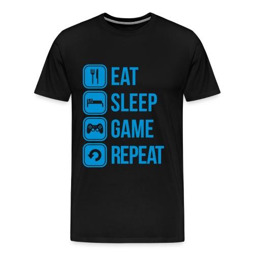 T-shirt eat, sleep, game, repeat - T-shirt Premium Homme
