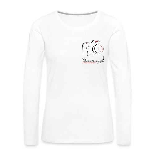 Tee shirt manches longues Femme clair logo - T-shirt manches longues Premium Femme