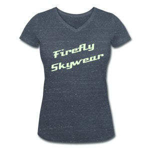 Firefly Simple Phospho V Neck - Women's Organic V-Neck T-Shirt by Stanley & Stella