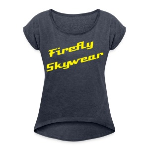 Firefly Loose T - Women's T-shirt with rolled up sleeves