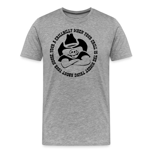 Grillbilly helle Shirtfarbe - Männer Premium T-Shirt