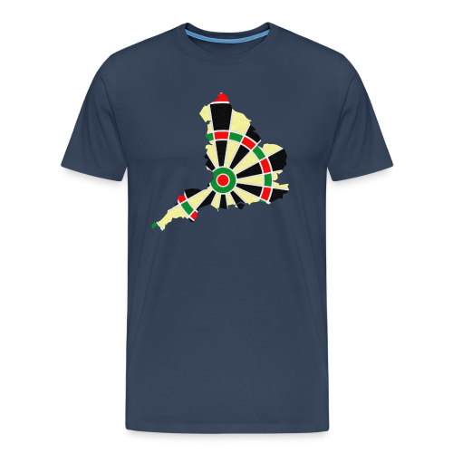 England Dartscheibe Shirt - Männer Premium T-Shirt