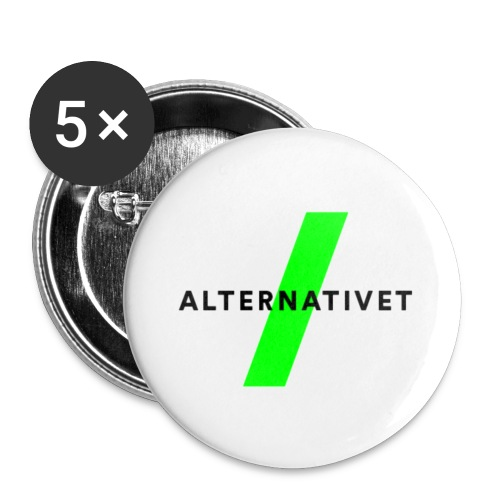 Alternativet 25 mm badge. 5 stk. - Buttons/Badges lille, 25 mm