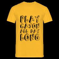 T-Shirts ~ Männer T-Shirt ~ Play Cajon all day long! Shirt (Herren)