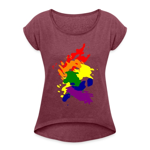 Lady's. Art - Vrouwen T-shirt met opgerolde mouwen