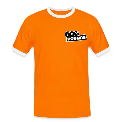 T-Shirt mit kleinem S/W-Logo vorne und großem hinten - Männer Kontrast-T-Shirt