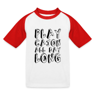 T-Shirts ~ Kinder Baseball T-Shirt ~ Play Cajon all day long! Kinder-Baseballshirt