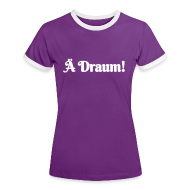 T-Shirts ~ Frauen Kontrast-T-Shirt ~ Ä Draum
