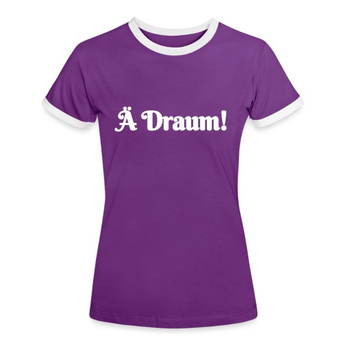 Ä Draum - Frauen Kontrast-T-Shirt