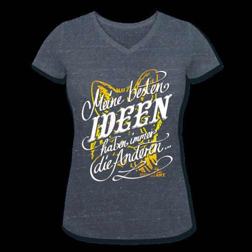 Beste Ideen Girly - Frauen Bio-T-Shirt mit V-Ausschnitt von Stanley & Stella