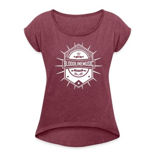 Frauen Premium T-Shirt ( Bloodlinemusic ) - Frauen T-Shirt mit gerollten Ärmeln
