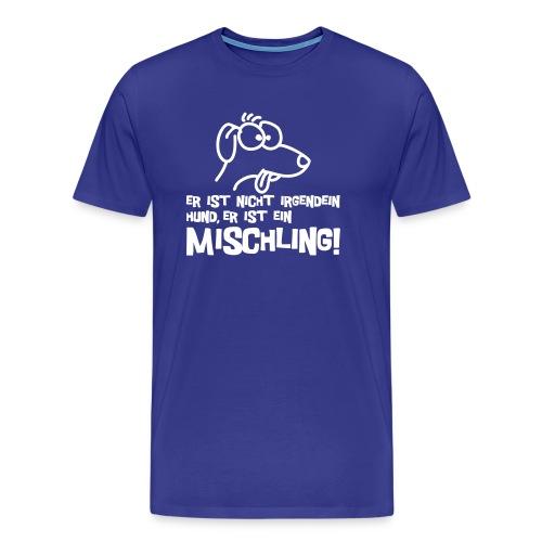 Herren Shirt blau für Mischlingsfreude - Männer Premium T-Shirt