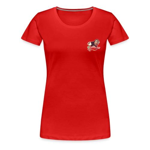 Motiv-Shirt Hexe linke Brustseite - Frauen Premium T-Shirt