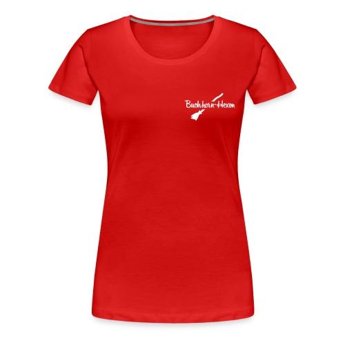 Motiv- und Logo-Shirt Hexe mit Logo auf Brust - Frauen Premium T-Shirt