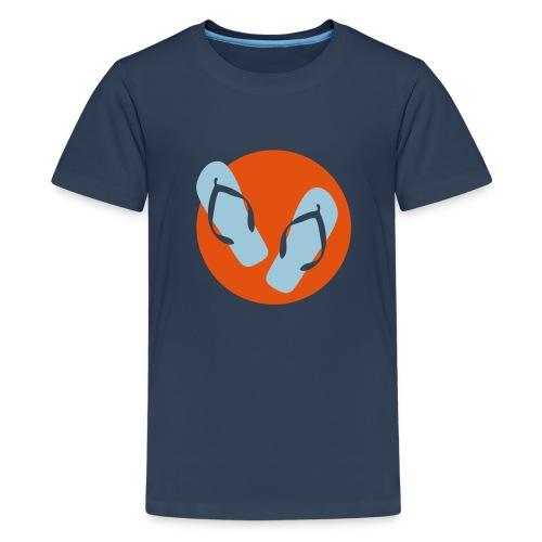 Flip-Flops hellblau/orange Teenies - Teenager Premium T-Shirt