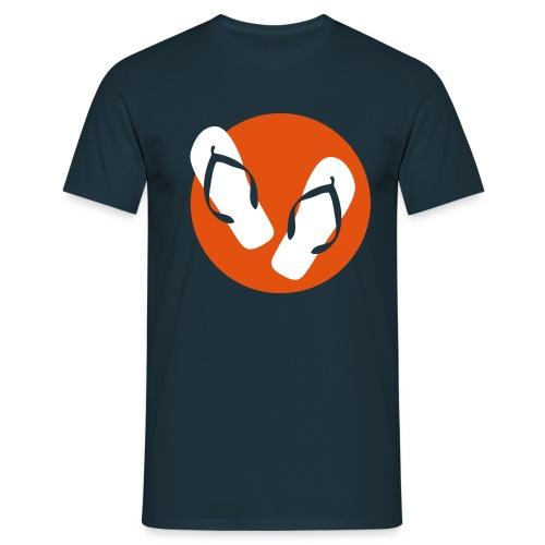 Flip-Flops weiss/orange - Männer T-Shirt