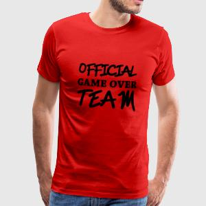 Official game over team Camisetas - Camiseta premium hombre