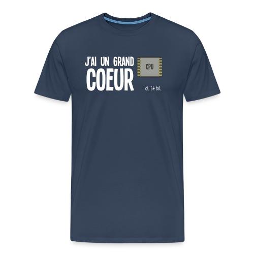 T-SHIRT GRAND COEUR ET 64BIT - T-shirt Premium Homme