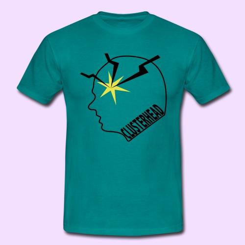 Clusterhead t-shirt, zwart logo - Mannen T-shirt