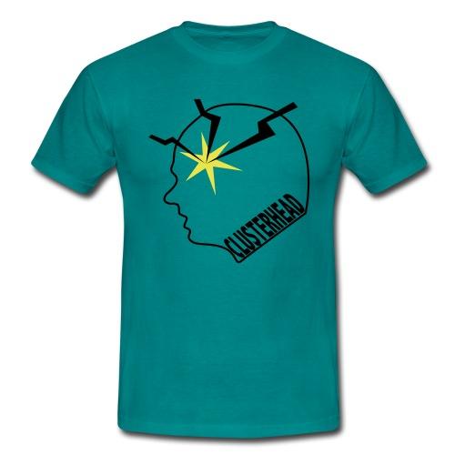 Clusterhead t-shirt for men, black logo - Men's T-Shirt