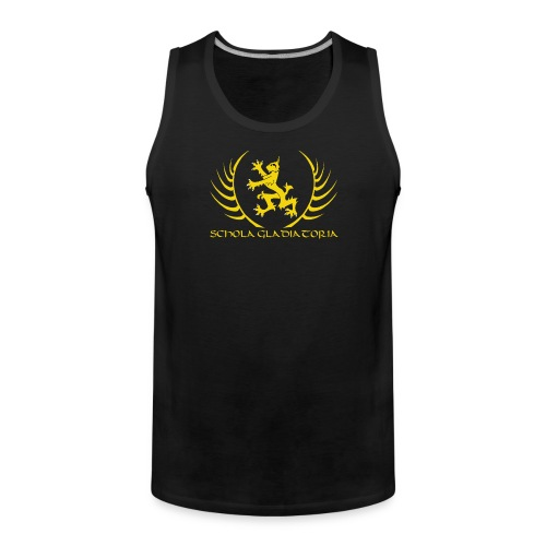 Schola logo with text - Men's Premium Tank Top