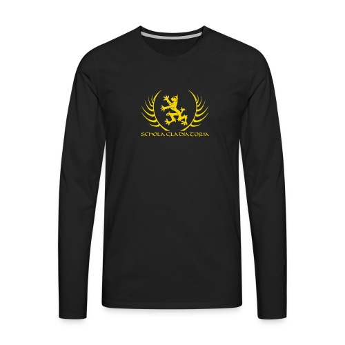 Schola logo with text - Men's Premium Longsleeve Shirt