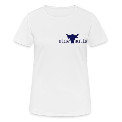 Blue Bulls Frauen T-Shirt atmungsaktiv Weiss Vorne - Frauen T-Shirt atmungsaktiv