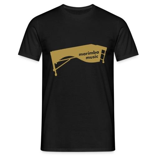 Marimba Music Kontur Glitzer-Shirt (Herren) - Männer T-Shirt
