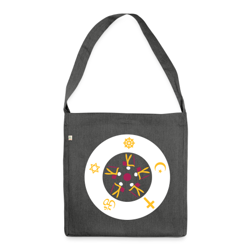 TIAN GREEN Tasche Bag 02 - All Travelers on the common path - Schultertasche aus Recycling-Material