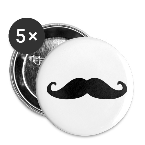 Badges MOUSTACHE - Badge moyen 32 mm