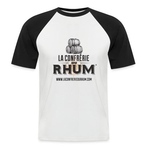 La Confrérie du Rhum (Homme) - Noir/Blanc - T-shirt baseball manches courtes Homme