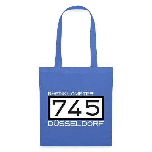 Rheinkilometer 745 – Düsseldorf: Tragetasche - Stoffbeutel