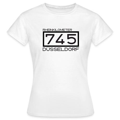 Rheinkilometer 745 – Düsseldorf-Shirt - Frauen T-Shirt