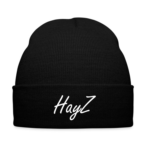 White 'HayZ' text Beanie - Winter Hat