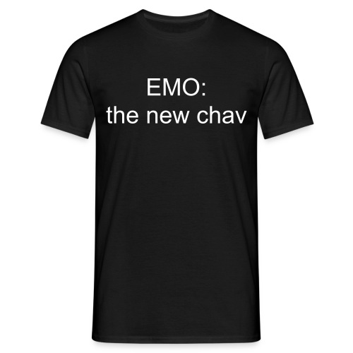 emo: the new chav (blk) - Men's T-Shirt